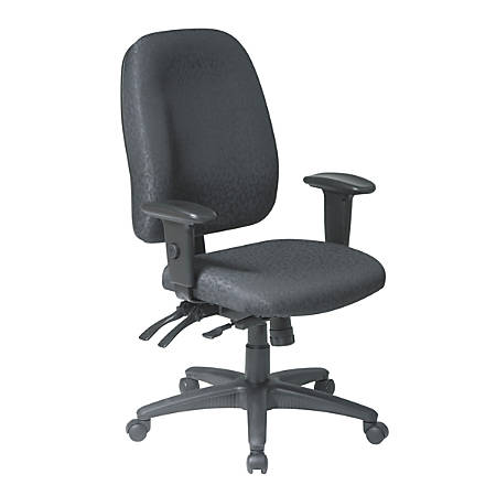 WorkPro® 2000 Series Multifunction Fabric High-Back Chair, Black