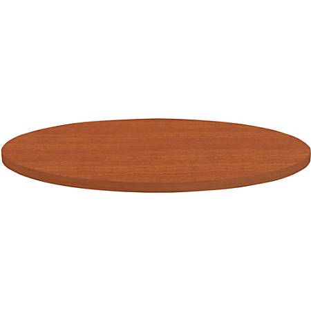 """Lorell® Hospitality Round Table Top, 36""""W, Cherry"""