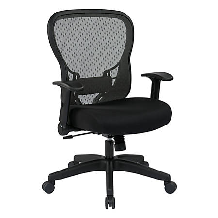 office star space seating deluxe r2 spacegrid task chair black by