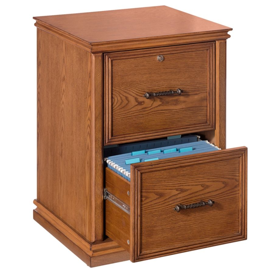 Realspace Premium Wood File Cabinet 2 Drawers 30 H x 21 W x 18 910 D