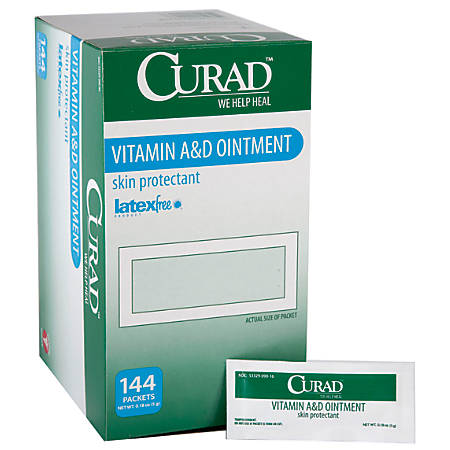 CURAD® A&D Ointment, 0.18 Oz Packets, Box Of 144 Tubes