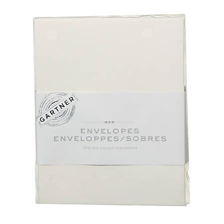 """Gartner Studios® Envelopes, 4 3/8"""" x 5 3/4"""", Ivory, Pack Of 50"""