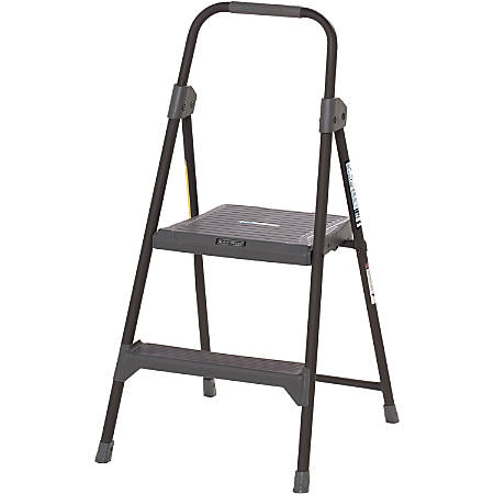 "Louisville 2' Steel Domestic Step Stool - 2 Step - 225 lb Load Capacity24"" - Gray"