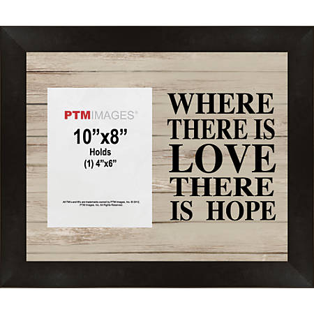 """PTM Images Photo Frame, Collage, 8""""H x 10""""W, Black"""