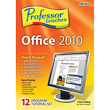 Professor Teaches Office 2010 Tutorial Set