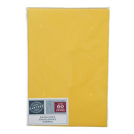 """Gartner Studios® Envelopes, 5 3/4"""" x 8 3/4"""", Yellow, Pack Of 50"""
