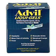 Advil Liqui Gels 2 Per Packet