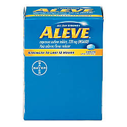 Aleve Pain Reliever Tablets 1 Per