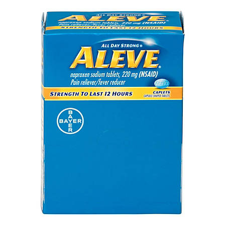 Aleve® Pain Reliever Tablets, 1 Per Packet, Box Of 50 Packets