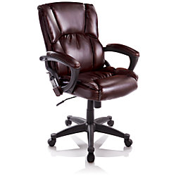 true innovations mid back bonded leather massage chair 41 h x 25 14