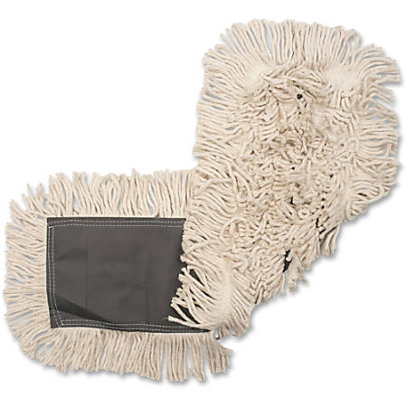 "Genuine Joe Disposable Cotton Dust Mop Refill - 24"" Width25"" Depth - Cotton"