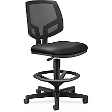 HON Volt Task Stool Black Leather