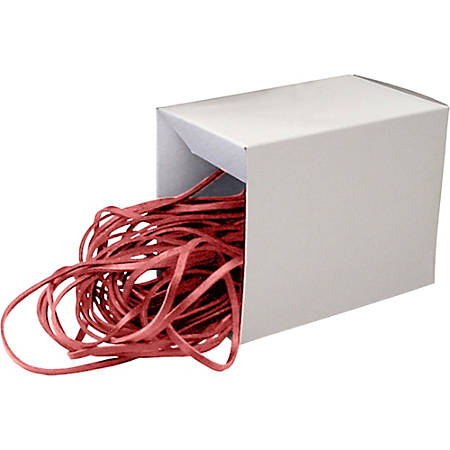 "Alliance Rubber 07825 SuperSize Bands - Large 12"" Heavy Duty Latex Rubber Bands - For Oversized Jobs - Red - Approx. 50 Bands in Box"