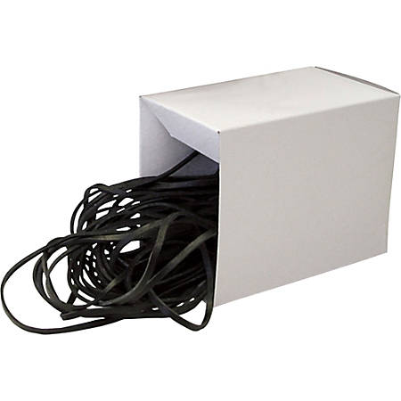 """Alliance Can Bandz 7"""" Heavy-Duty Latex Garbage Can Rubber Bands, Black, Box Of 50"""