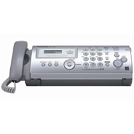 Panasonic Plain Paper Fax/Copier with Caller ID - Thermal Transfer - Monochrome - Plain Paper Fax - 9.60 kbit/s Modem