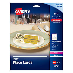 Avery Uncoated Place Cards 1 716