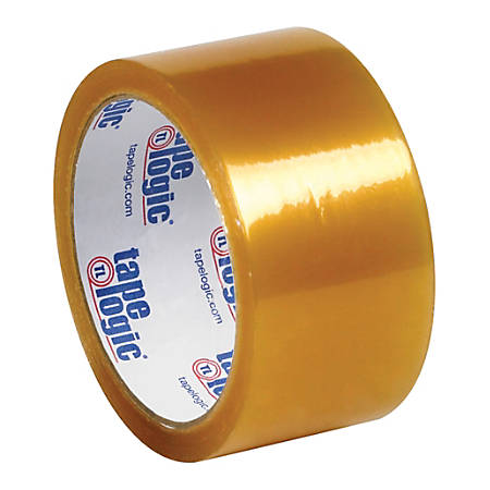 """Tape Logic® #57 Natural Rubber Tape, 2"""" x 55 Yd., Clear, Case Of 6"""