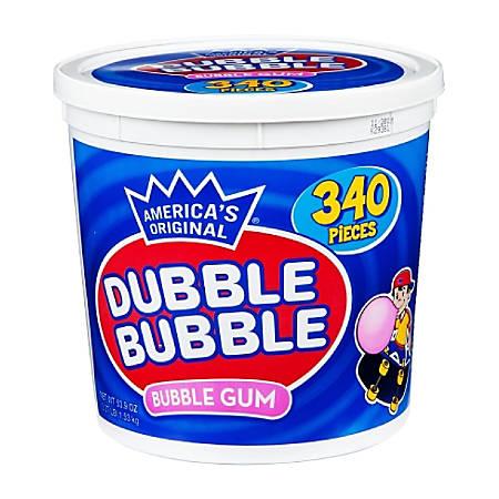 Dubble Bubble America's Original Bubble Gum Tub, 53.9-Oz Tub, 340 Pieces
