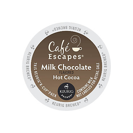Cafe Escapes™ Milk Chocolate Hot Cocoa K-Cups®, Box Of 24