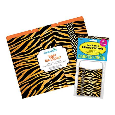"""Barker Creek Folder/Pocket Set, 9"""" x 12"""", Tiger, Set of 42"""