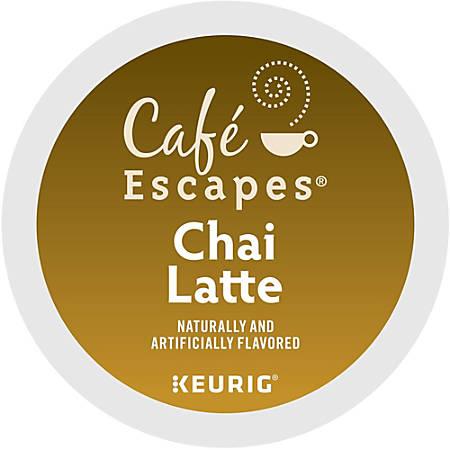 Café Escapes Chai Latte K-Cup® Pods, Box Of 24 Pods