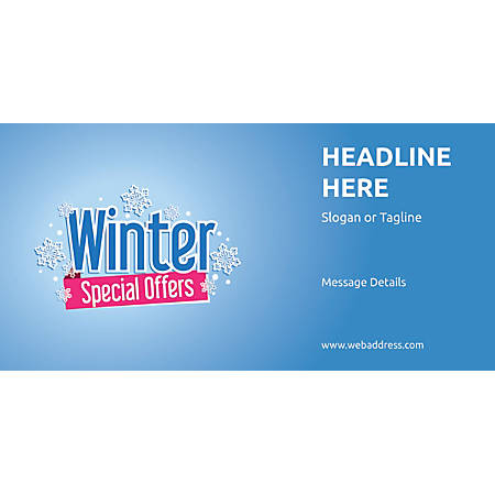 Custom Horizontal Banner, Winter Special Offers