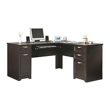 Realspace® Magellan L-Shaped Desk, Espresso