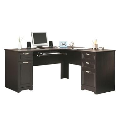 Reale Magellan 59 W L Shaped Desk Espresso Item 101095