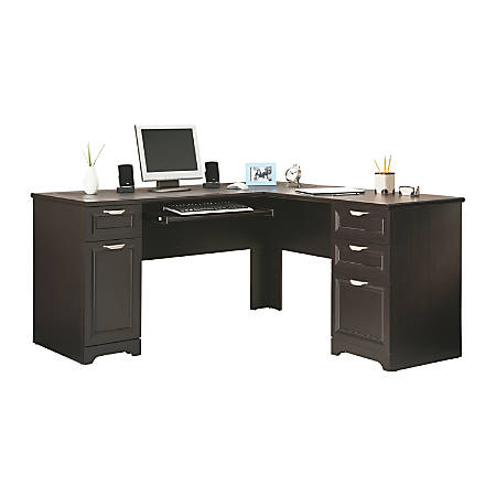 Realspace® Magellan Collection L-Shaped Desk, Espresso