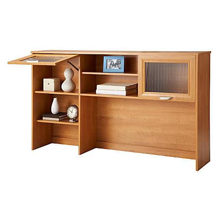 Realspace® Magellan Hutch For Corner/L-Desk, Honey Maple