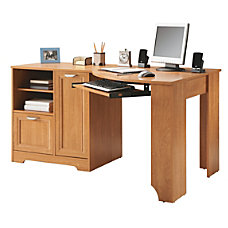 Realspace Magellan Corner Desk Honey Maple