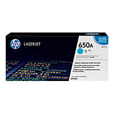 HP 650A Cyan Original Toner Cartridge