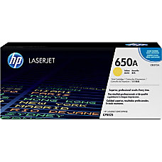 HP 650A Yellow Original Toner Cartridge