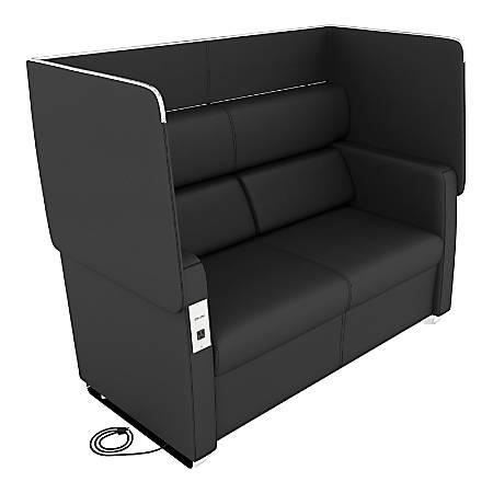 OFM Morph Series Soft Seating Sofa, Midnight/Chrome