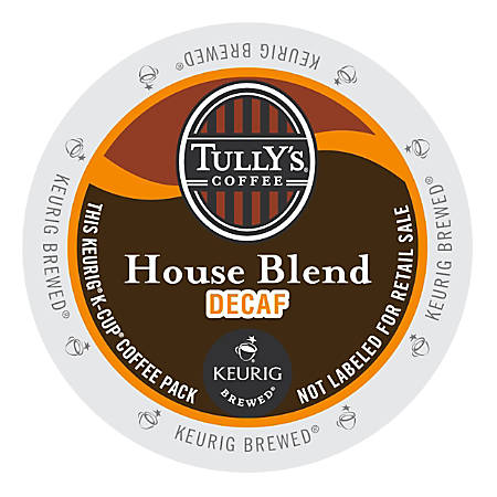 Tully's Coffee® House Blend Decaffeinated Coffee K-Cups®, Box Of 24