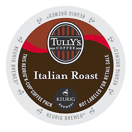 Tully's Coffee Italian Roast Coffee K-Cup® Pods, Box Of 24 Pods