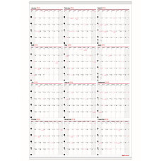 Office Depot Brand Yearly Wall Calendar