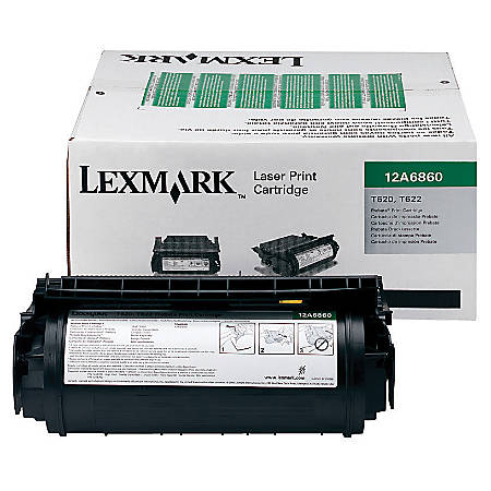 Lexmark™ 12A6860 Return Program Black Toner Cartridge