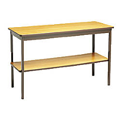 Utility Table With Bottom Storage Shelf