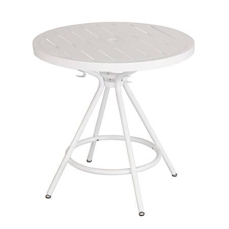 "Safco CoGo™ Outdoor/Indoor Round Table, 36"" Diameter, White"