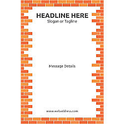Adhesive Sign Bricks Vertical