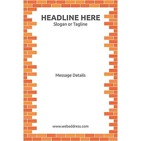 Adhesive Sign, Bricks, Vertical