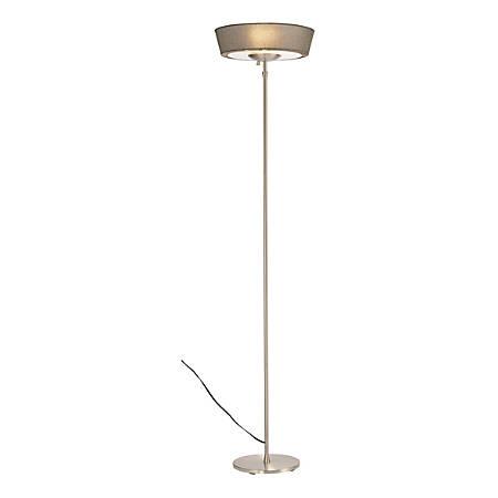"Adesso® Harper Floor Lamp, 71""H, Gray Shade/Steel Base"