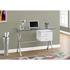 Monarch Specialties Glass Computer Desk Glossy