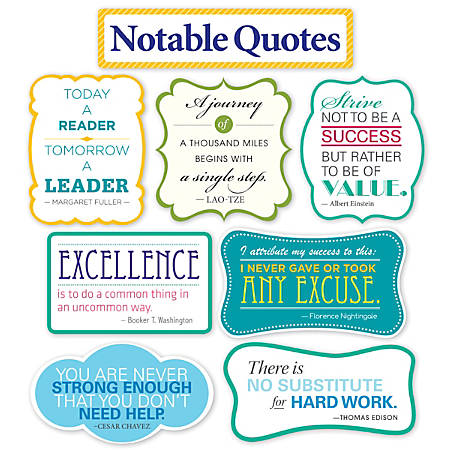 Scholastic Teacher's Friend Notable Quotes Bulletin Board Set, Grades 3-6