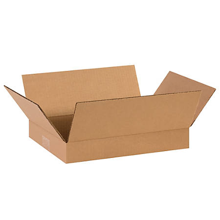 """Office Depot® Brand Corrugated Boxes, Flat, 2""""H x 10""""W x 14""""D, Kraft, Pack Of 25"""