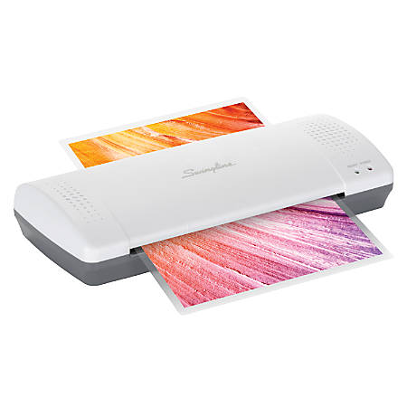 "Swingline® Inspire™ Plus Thermal Pouch Laminator, 9"" Width, White/Gray"
