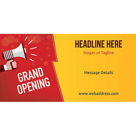 Custom Horizontal Banner, Grand Opening Announcement