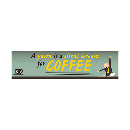 "Full-Color Bumper Sticker, 3"" x 11 1/2"""