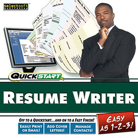 quickstart resume maker download version by office depot officemax